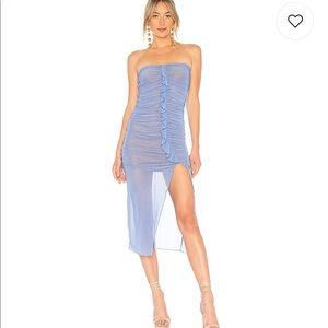 MAJORELLE Brady Dress In Robin Egg Blue